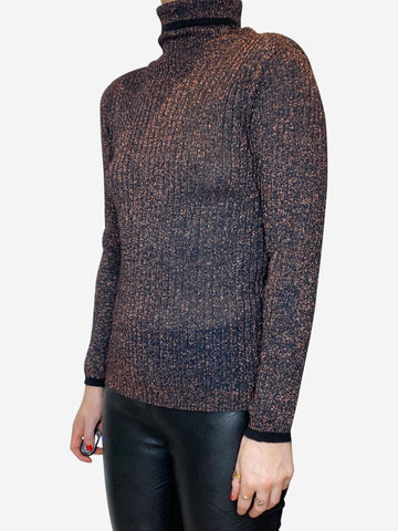 Bronze rollneck sweater - size FR 36