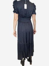 Load image into Gallery viewer, Black short sleeve tie waist dress - size US 6