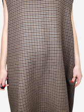 Load image into Gallery viewer, Brown wool oversized sleeveless dress - size FR 34