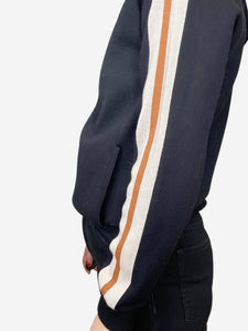 Isabel Marant Etoile Black, mustard and cream striped hoodie - size FR 38