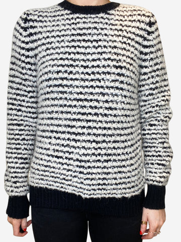 Black & white alpaca striped sweater - size FR 36