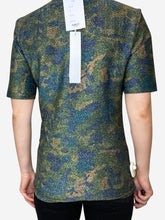 Load image into Gallery viewer, Metallic camo printed stretch jersey t-shirt - size UK 10