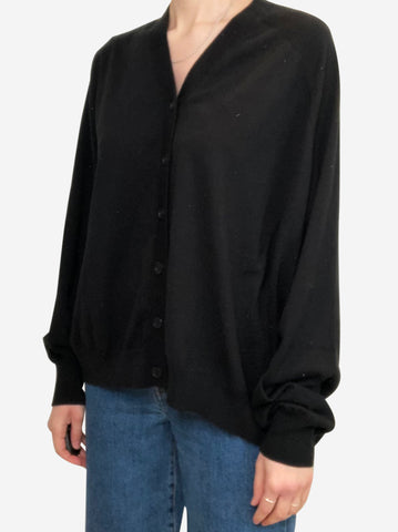 Black oversized asymmetric cardigan - size S