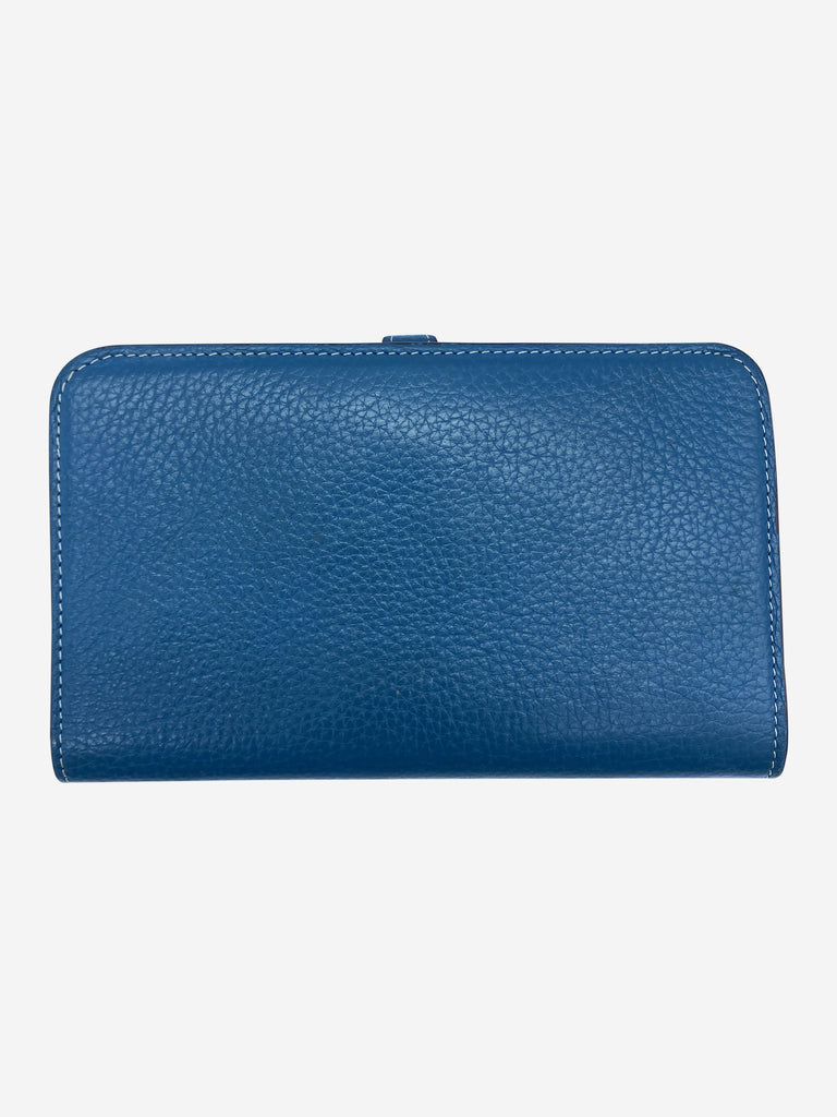 Dogon Duo teal wallet with silver hardware