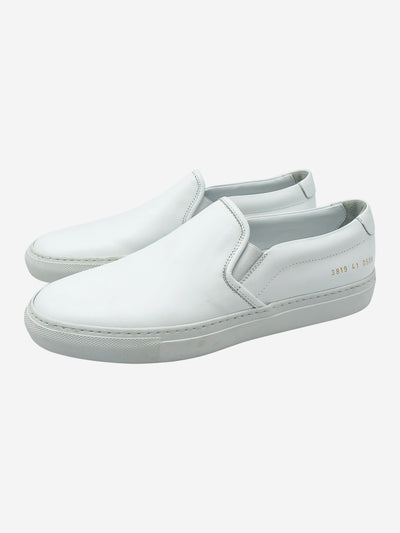 White leather slip on trainers - size EU 41