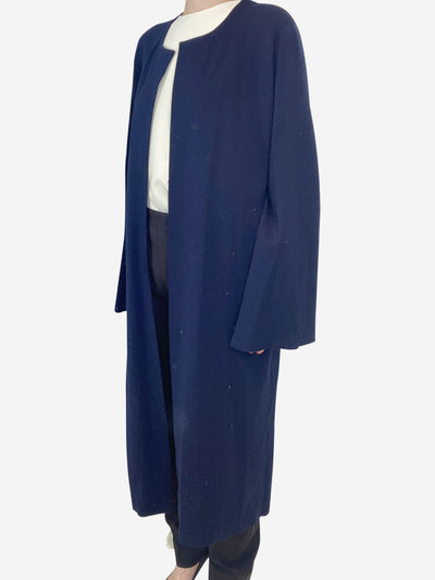 Navy open long cardigan - size XS