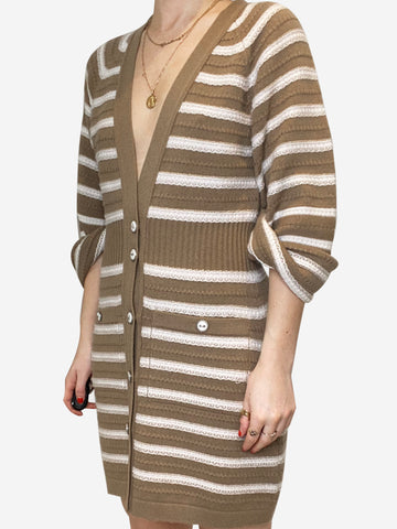 Beige & Cream Chanel Cardigan Dresses, 10