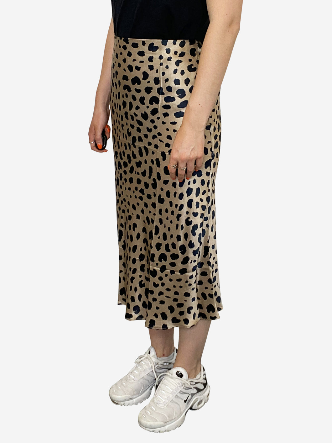 The Naomi animal print silky midi skirt - size S