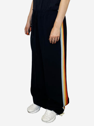 Cady black and rainbow stripe track pants - size FR 42