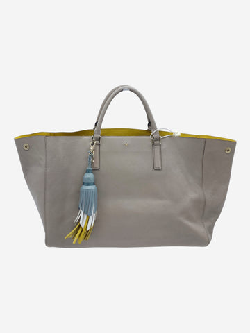 Beige Ebury leather tote
