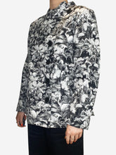 Load image into Gallery viewer, Grey jungle print short jacket - size FR 40