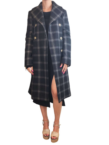 Vivienne Westwood Black And Grey Check Jacket Size 12 RRP £1020