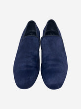 Load image into Gallery viewer, Navy Velvet loafer  - size 6