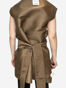 Prada Oversized gold tunic with eyelet and belt - size IT 40