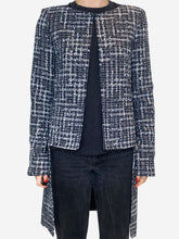 Load image into Gallery viewer, Blue & white tweed tailcoat - size FR 36