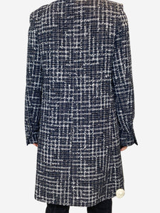 Chanel Blue & white tweed tailcoat - size FR 36