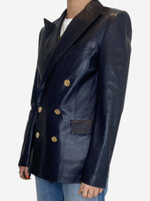 Load image into Gallery viewer, Camden navy leather blazer jacket - size 8