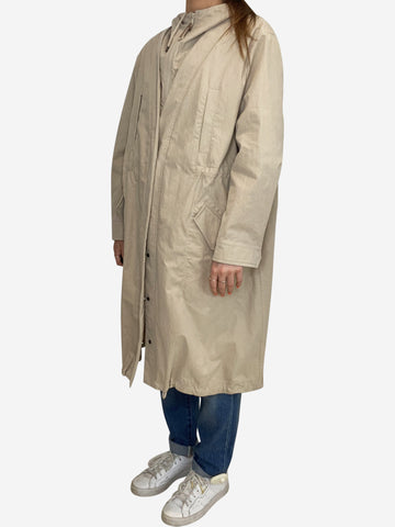 Beige layered parka coat - size IT 42