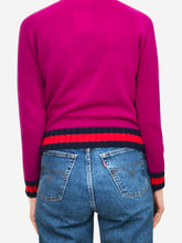 Load image into Gallery viewer, Purple strawberry embellished sweater - size S