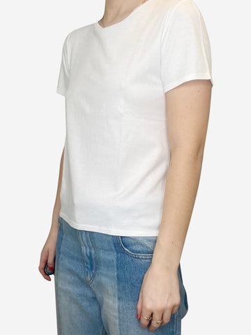 White short sleeve t-shirt - size XS