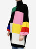 Oversized high neck multicolour sweater - size S