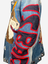Load image into Gallery viewer, Blue animal denim jacket - size XXL