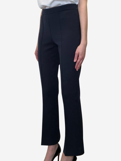 Navy high waisted trousers - size L