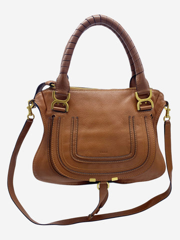 Brown Marcie medium leather tote bag