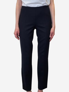 The Row Navy straight leg trousers - US 6