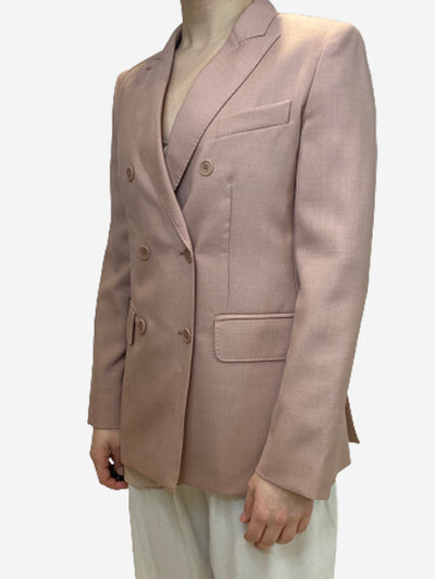Blush linien double breasted blazer jacket- size UK 8