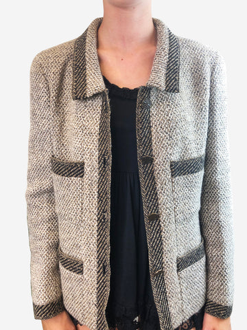 Chanel Brown Tweed Jacket Size 14