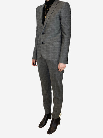 Grey lightweight check suit - size FR 36
