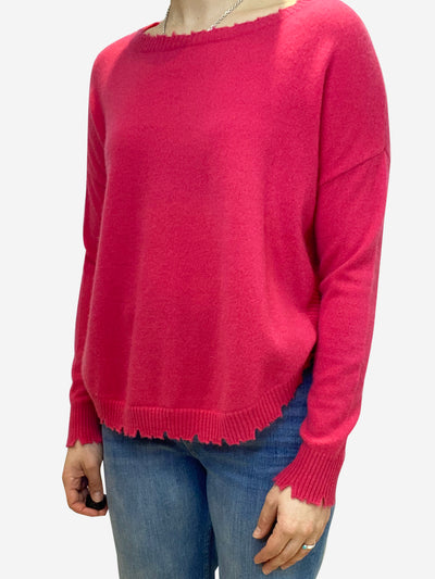 Pink distressed cashmere sweater- size S