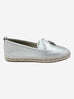Donna silver leather espadrilles - size 6