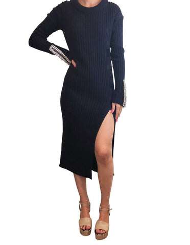 Aviu Navy Embellished Jumper Dress Size 12 Aviu - Timpanys