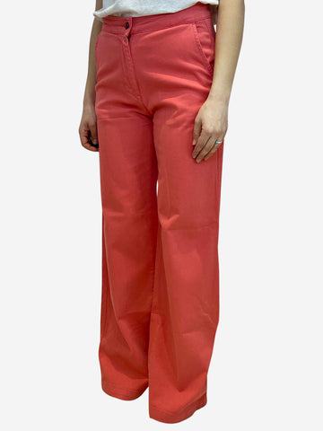 Coral wide leg high waisted jeans- size UK 10