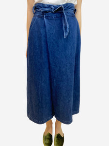 Sea New York Blue denim culottes- size UK 12