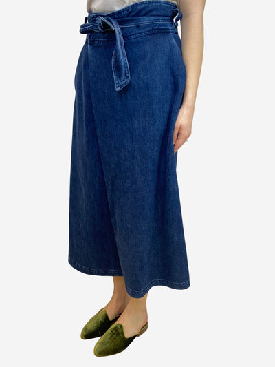 Blue denim culottes- size UK 12