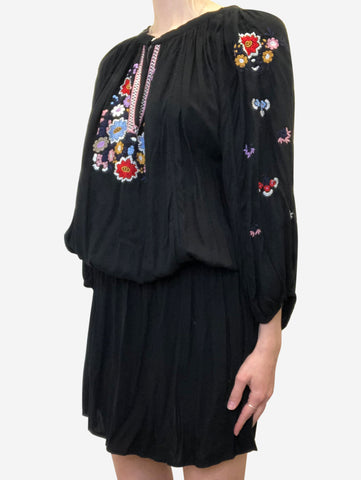 Black embroidered dress - size M