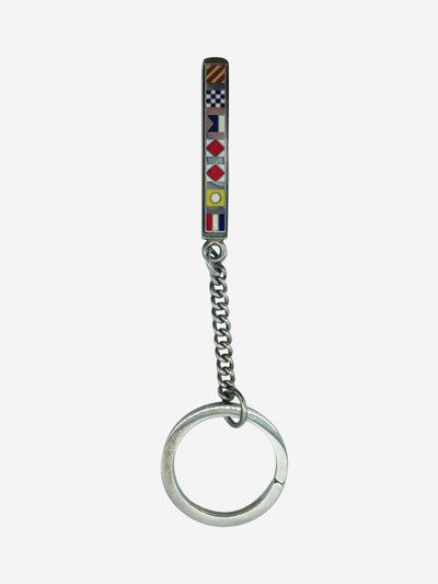 Sterling silver nautical flag key chain