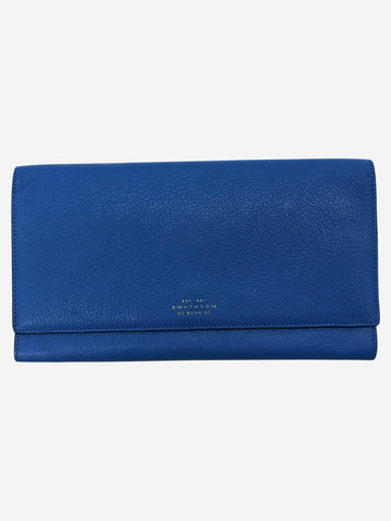 Panama Marshall blue leather travel wallet