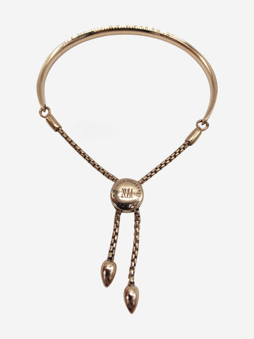 Fiji 18ct rose gold vermeil chain bangle