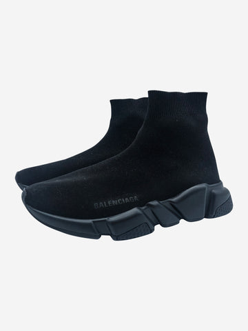 Black Speed Runner sock high top trainers - size EU 38