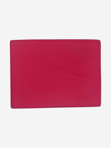 Pink, navy and grey Panama leather writing folder