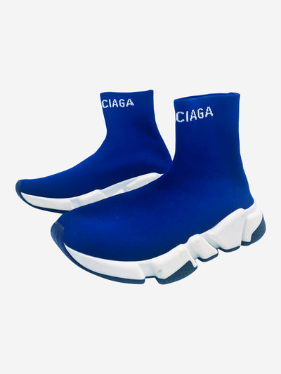 Blue Speed sock-style trainers - size EU 36