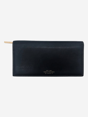 Navy, pink and lilac slim wallet