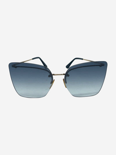 Blue Camilla cat eye sunglasses