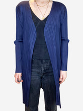 Load image into Gallery viewer, Navy pleated jacket - size L