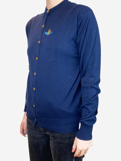 Navy cotton cardigan - size S