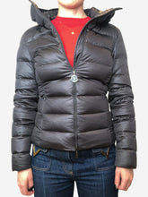 Load image into Gallery viewer, Grey hooded puffer jacket - size XS